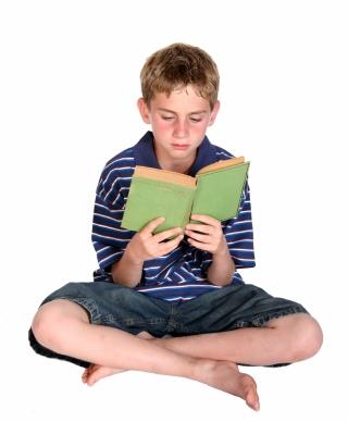 Boy Reading Book II